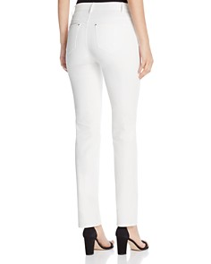 Lafayette 148 New York - Thompson Waxed Slim Jeans in White