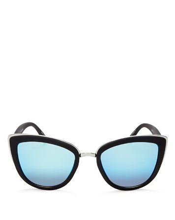 $Quay Women's My Girl Mirrored Cat Eye Sunglasses, 55mm - Bloomingdale's
