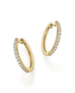 Diamond Hoop Earrings in 14K Yellow Gold, .40 ct. t.w.