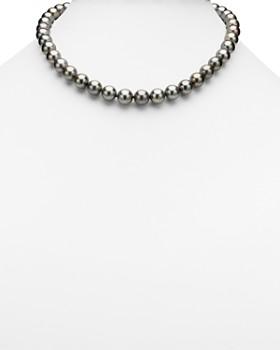 "Tara Pearls - Natural Color Tahitian Cultured Pearl Strand Necklace, 17"""