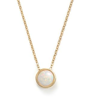 Opal Bezel Set Pendant Necklace in 14K Yellow Gold, 18 - 100% Exclusive