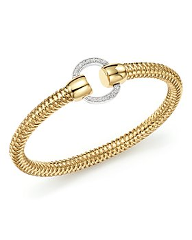 Roberto Coin - Roberto Coin 18K Yellow and White Gold Primavera Diamond Bracelet