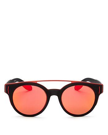 Givenchy - Men's Mixed Media Round Sunglasses, 50mm