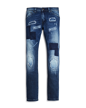 Diesel Boys Patchwork Distressed Skinny Jeans  Sizes 416