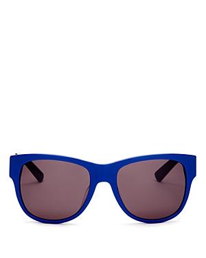 Moschino Cutout Logo Rectangular Sunglasses, 55mm