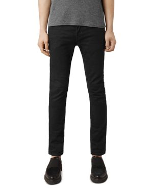 Allsaints Crow Cigarette Super Slim Fit Jeans in Jet Black