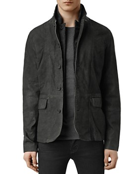 e92d2e9cc ALLSAINTS - Survey Regular Fit Leather Blazer ...