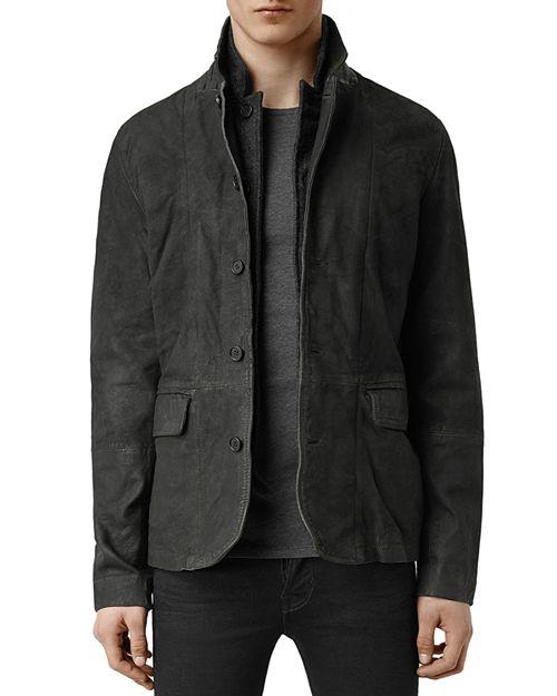 ALLSAINTS - Survey Regular Fit Leather Blazer