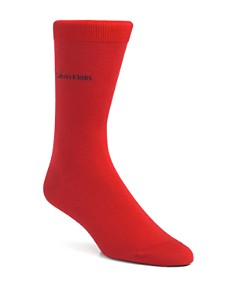 Calvin Klein Giza Cotton Flat Knit Socks - Bloomingdale's_0