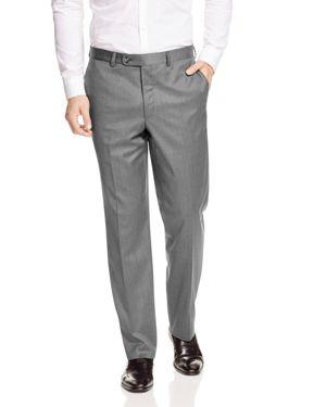 JACK VICTOR Loro Piana Regular Fit Dress Pants in Light Grey