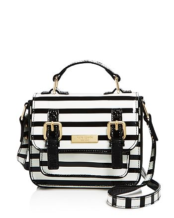 kate spade new york - Girls' Patent Leather Striped Scout Bag