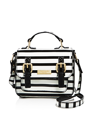kate spade new york Girls' Patent Leather Striped Scout Bag