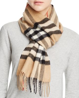 $Burberry Giant Icon Check Cashmere Scarf - Bloomingdale's