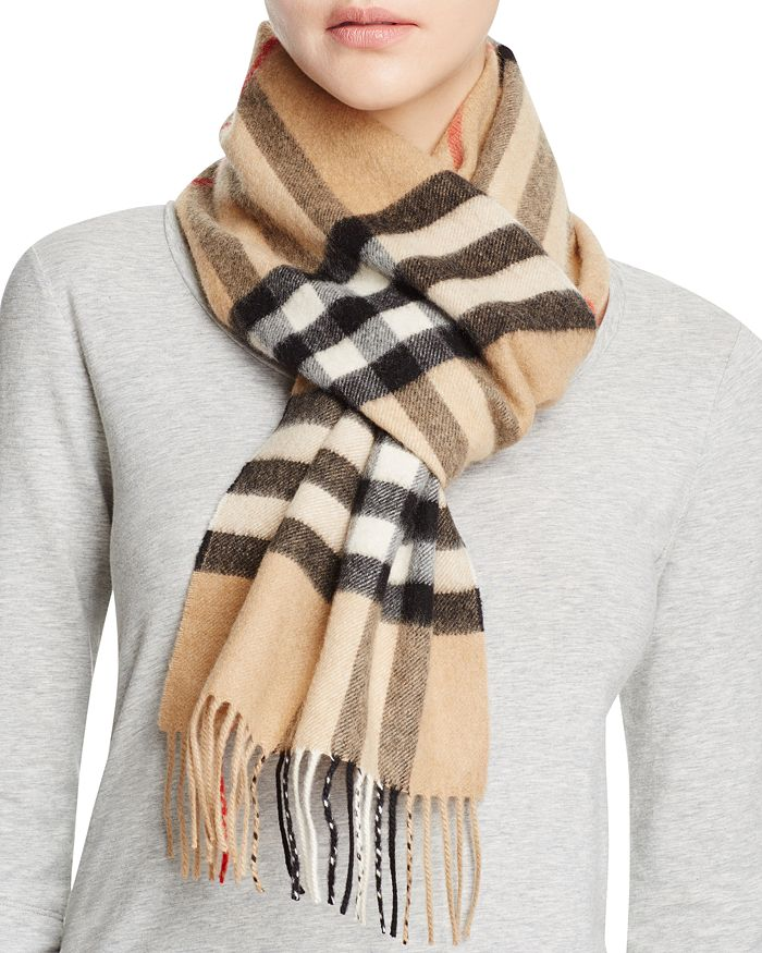 Burberry - Giant Icon Check Cashmere Scarf 2e0e5c3446