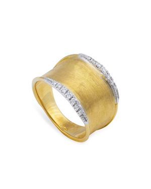 Marco Bicego 18K Yellow Gold Lunaria Diamond Ring