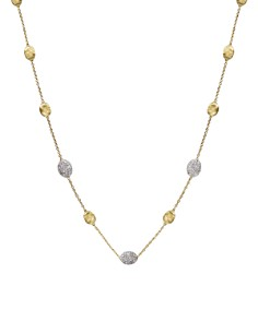 "Marco Bicego - Siviglia 18K Yellow Gold Necklace with Diamonds, 16.5"""
