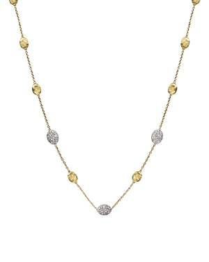 Marco Bicego Siviglia 18K Yellow Gold Necklace with Diamonds, 16.5