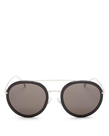 3934c9e5a53b Fendi - Women s Combo Round Sunglasses with Brow Bar
