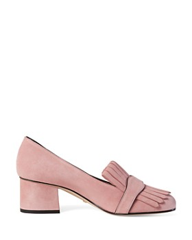 Gucci - Women's Suede Mid-Heel Pumps