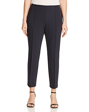 Lafayette 148 New York Plus Pintuck Slim Leg Pants