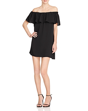 French Connection Polly Plains Off-the-Shoulder Dress
