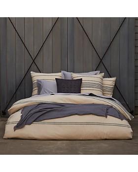Coyuchi - Organic Cotton Ivory Rippled Stripe Bedding Collection