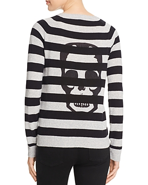 Aqua Cashmere Skull Stripe Cashmere Sweater - 100% Exclusive