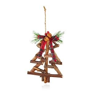 Bloomingdale's Rustic Wood Tree Ornament - 100% Exclusive