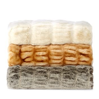 Hudson Park Collection - Faux Fur Throw - 100% Exclusive