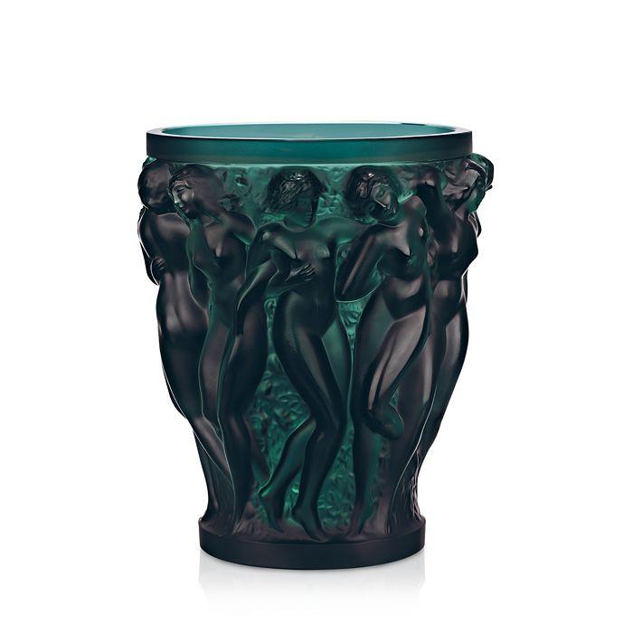 Lalique - Bacchantes Deep Green Vase