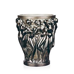 Lalique Home decors LARGE BACCHANTES DEEP GREEN VASE