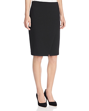 Armani Collezioni Asymmetric Slit Pencil Skirt at Bloomingdale's