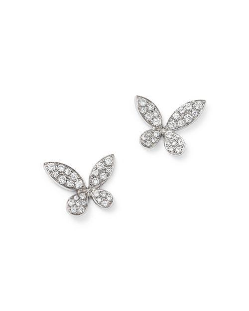 Bloomingdale's - Diamond Pavé Butterfly Stud Earrings in 14K White Gold, .50 ct. t.w.- 100% Exclusive