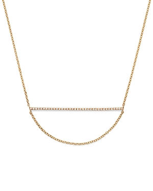 Diamond Micro Pave Bar Necklace in 14K Yellow Gold, .11 ct. t.w. - 100% Exclusive