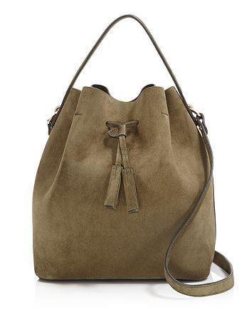 639f7306f261 Celine Lefebure - Karin Suede Bucket Bag
