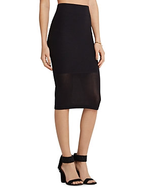 BCBGeneration Mesh Panel Skirt plus size,  plus size fashion plus size appare