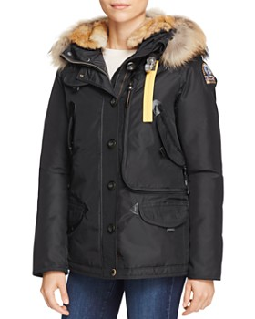 Parajumpers - Doris Mixed Fur Trim Down Coat ...