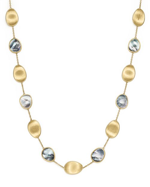 """Marco Bicego - 18K Yellow Gold Lunaria Black Mother-Of-Pearl Short Necklace, 16"""""""