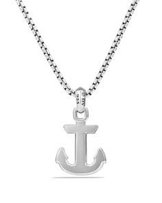 David Yurman - Maritime Anchor Amulet with Black Onyx