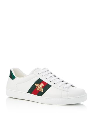 Ace Embroidered Leather Lace Up
