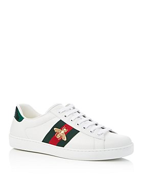 Gucci - Men's Ace Embroidered Leather Lace Up Sneakers