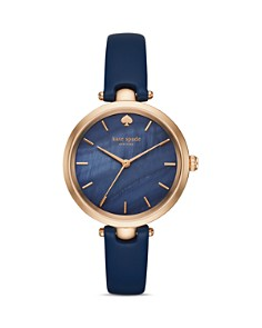 kate spade new york - Holland Leather Strap Watch, 34mm