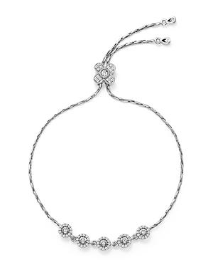 Diamond Station Bracelet in 14K White Gold, .30 ct. t.w.