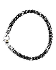 LAGOS - Black Caviar Ceramic Sterling Silver and 18K Gold Bracelets