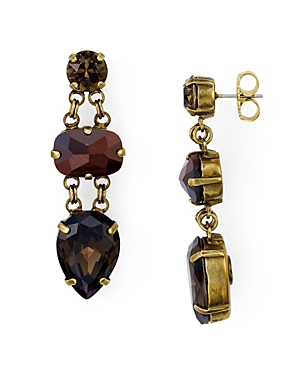 Sorrelli Swarovski Crystal Chain Drop Earrings