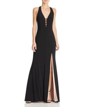 Aqua Illusion V-Neck Gown - 100% Exclusive