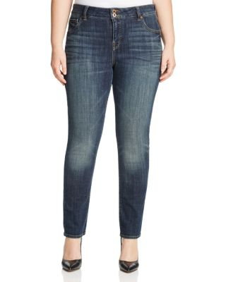 LUCKY BRAND PLUS EMMA FADED STRAIGHT LEG JEANS IN TIBURON
