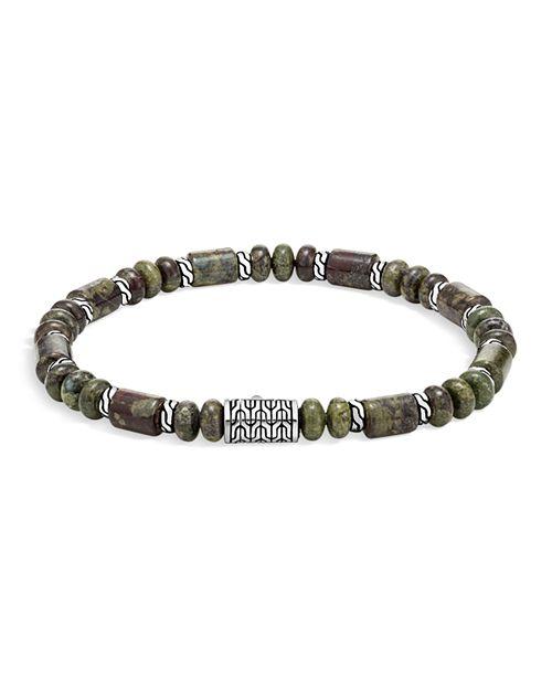 John Hardy - Sterling Silver Classic Chain Jasper Beaded Bracelet
