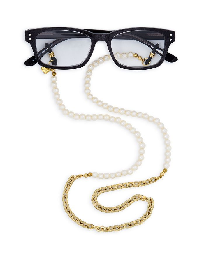 "Corinne Mccormack - Faux-Pearl Glasses Chain, 29"""