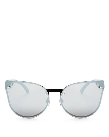 Quay - Women's Higher Love Rimless Mirrored Cat Eye Sunglasses, 65mm